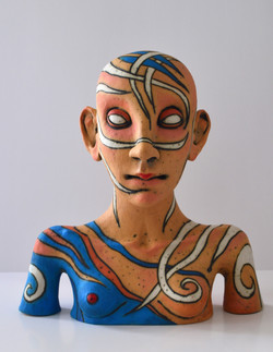 female face original sculpture