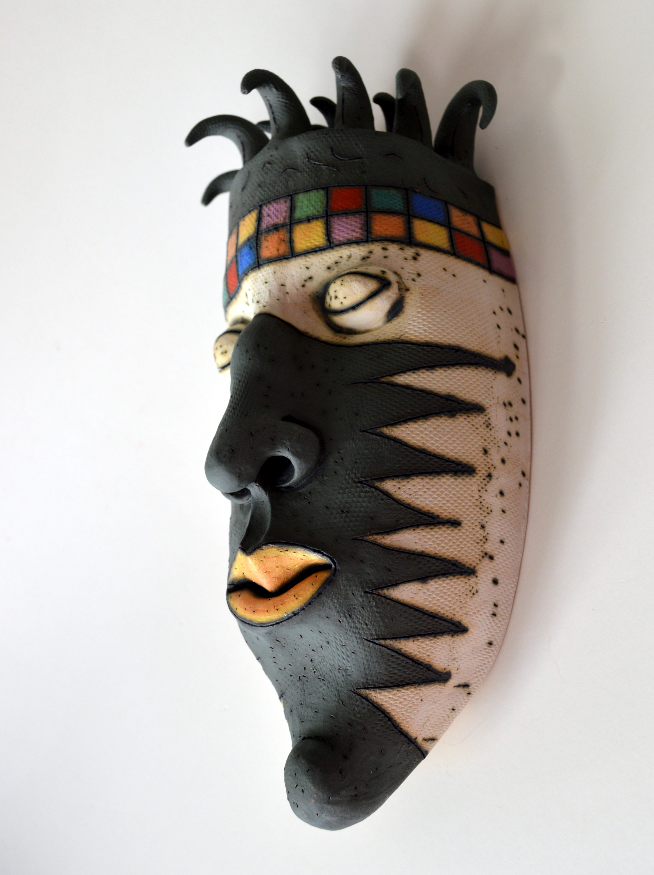 black mask wall decor israel