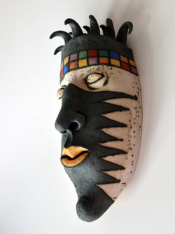 black mask wall decor israel