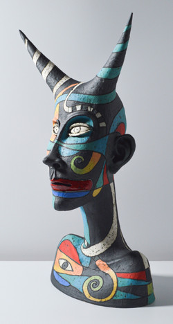 black face sculpture