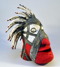 red head sculpture