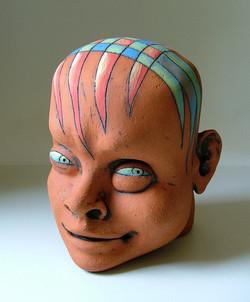 head of a boy ceramic