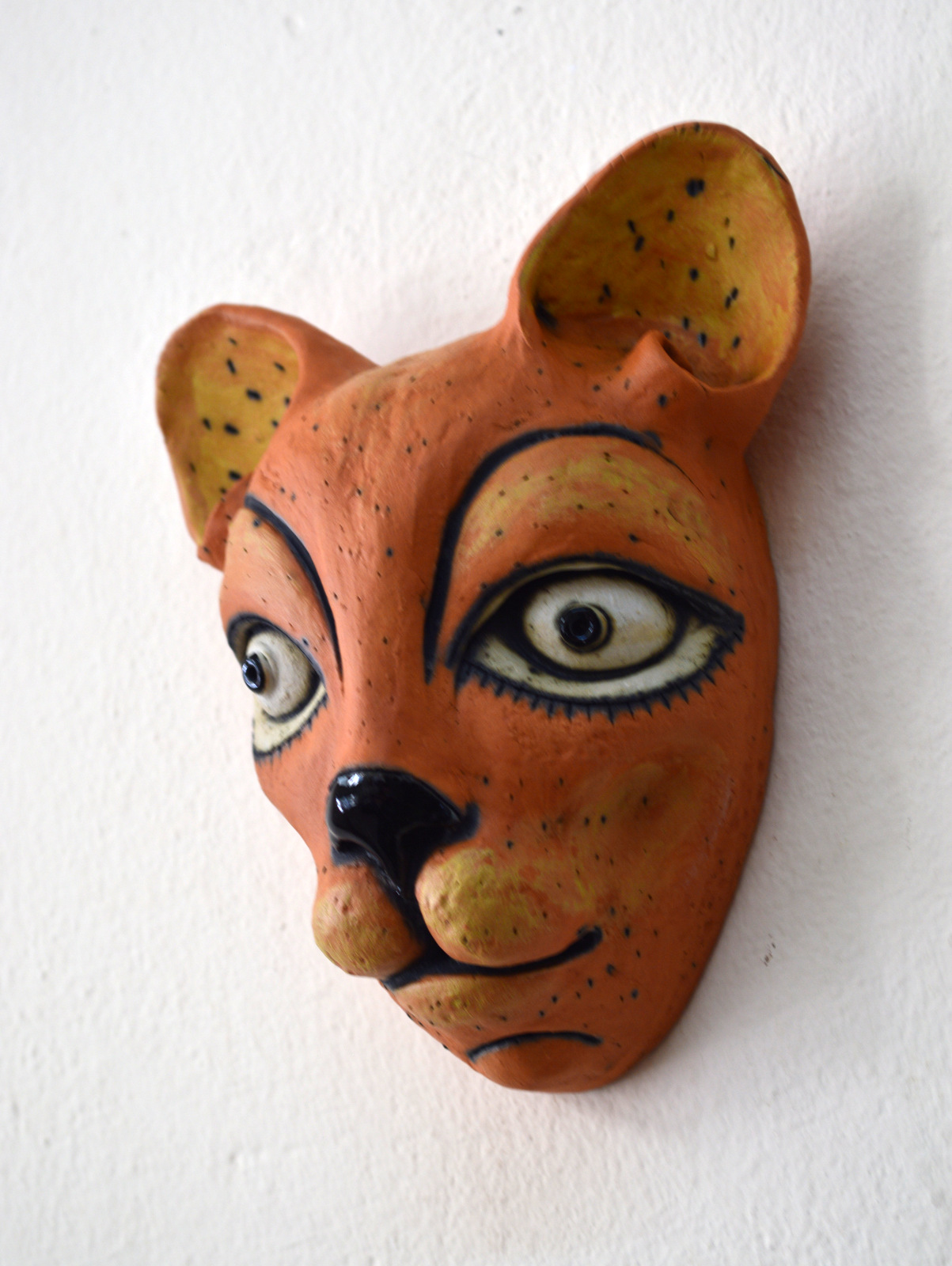 cat mask ceramic art