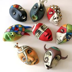 small masks ceramic Israel