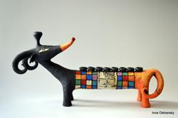 menorah hanukkah ceramic