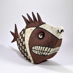 shark ceramic sculpture