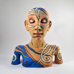 female bust face