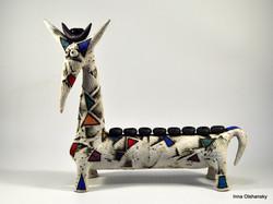 ceramic menorah israel