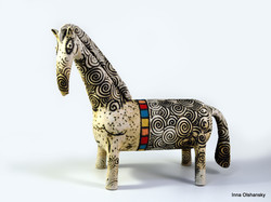 white horse figurine