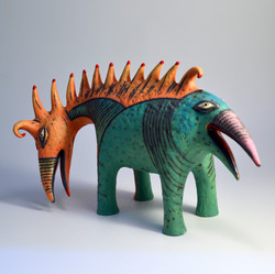 creature ceramic sculpture