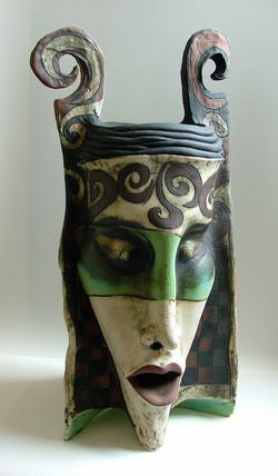 green vase ceramic