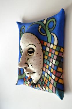 blue ceramic mask israel
