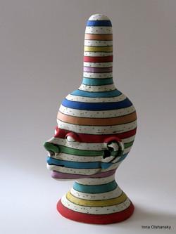 ceramic head art