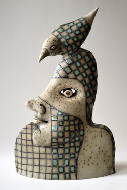 gray bird ceramic