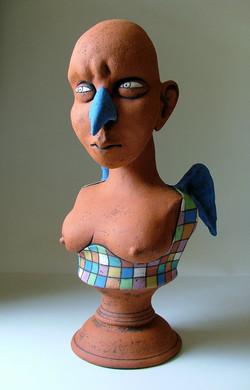 an angel sculpture ceramic