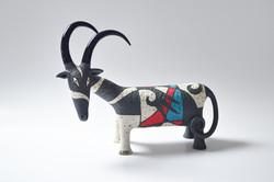 goat ceramic sculpture