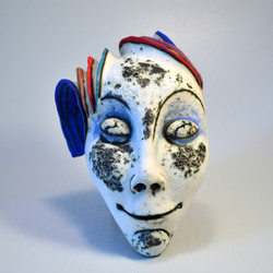 white face ceramic mask