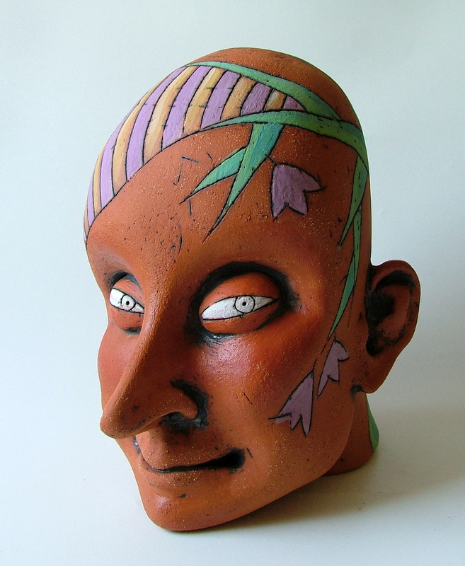 head of a woman clay