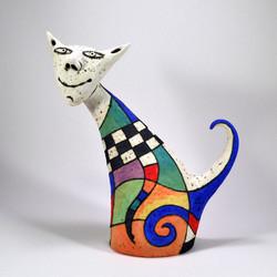 funny cat sculpture