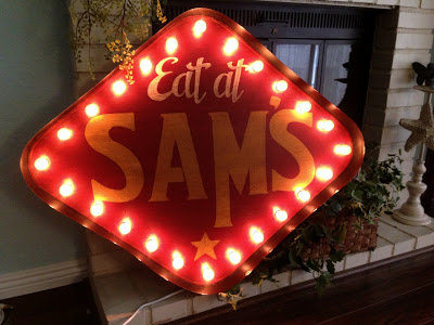 Eat At Sam's Marquee Sign - Customized Free!