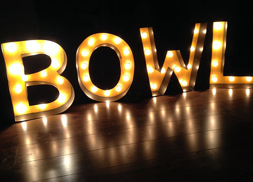 """BOWL Marquee Letter Sign - 14"""" Letters"""