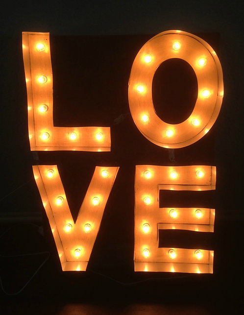 "14"" LOVE Letter Marquee Sign"