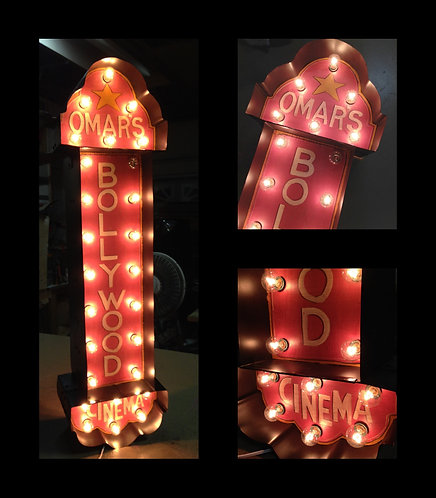 """38"""" Customized Double- Sided Theatre Marquee Sign"""