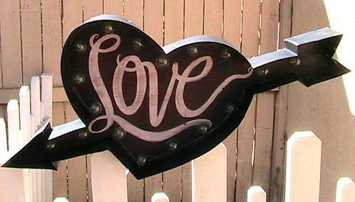 HEART Arrow - LOVE Marquee Sign