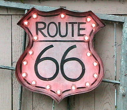Route 66 Vintage Marquee Light Up Sign!