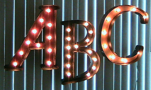 Alphabet Marquee Light Up Sign-Choice of A-Z