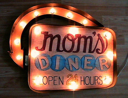 Mom's Diner Marquee Sign