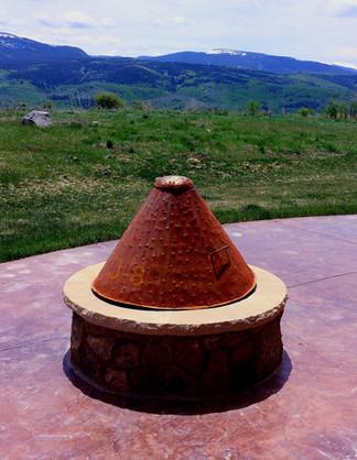 Faux Copper Fire Cone