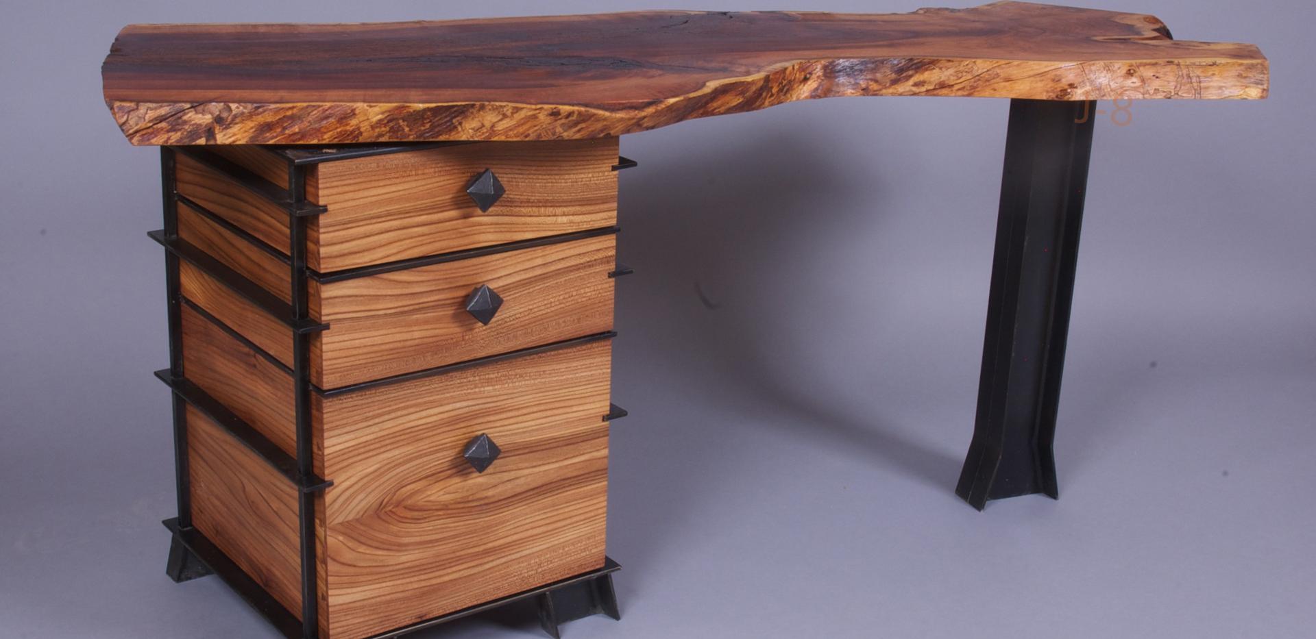 Desk with Steel Beam Legs