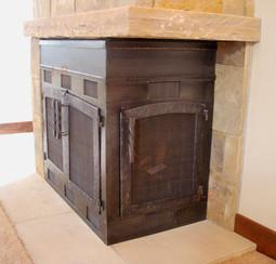 Corner Fireplace Unit