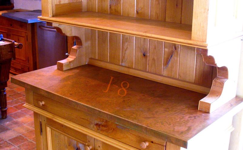 Copper Bar Top on Hutch