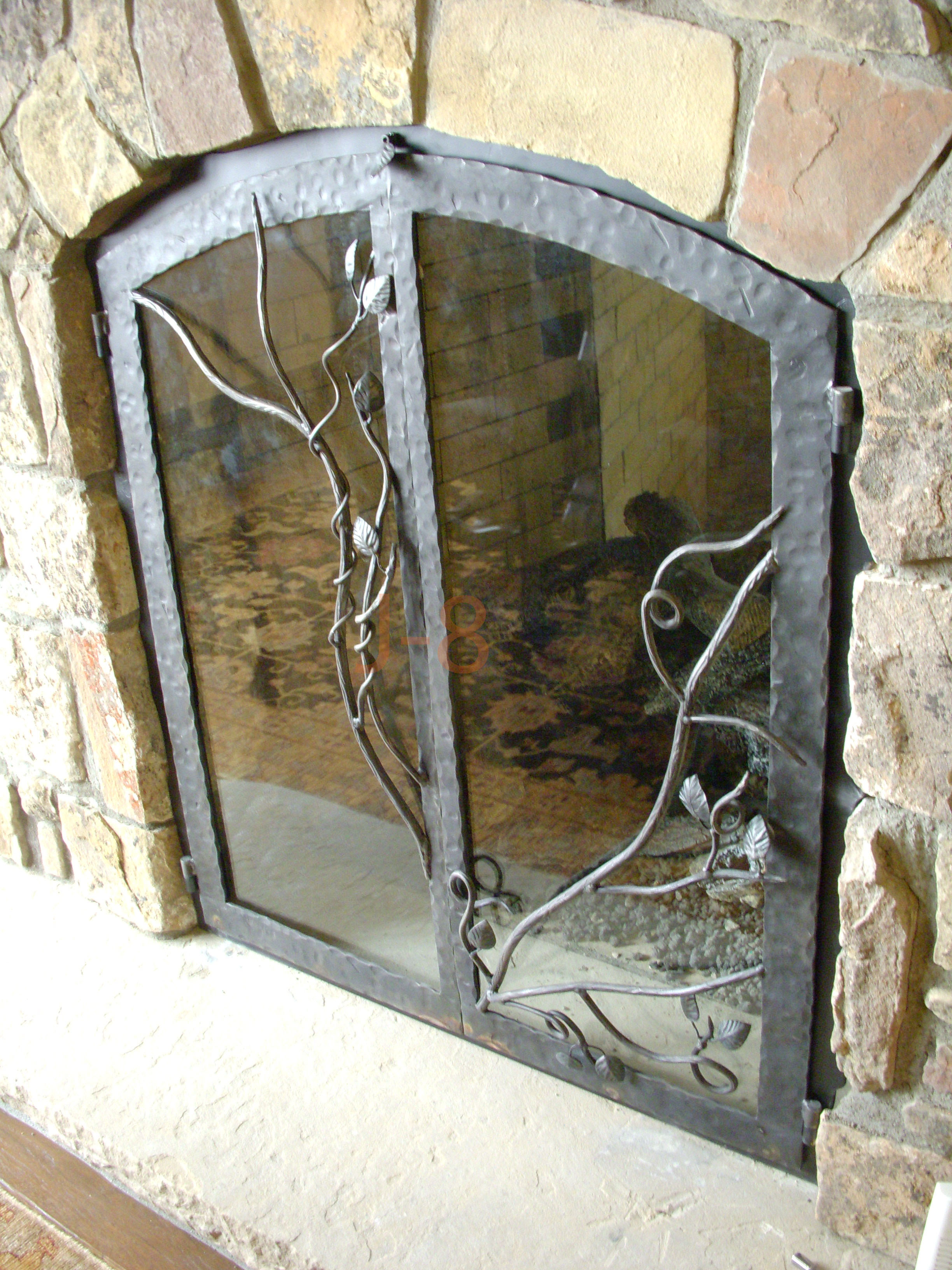 Intertwined Branch Fireplace Doors