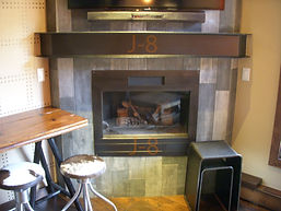 Modern mantle and fireplace surround wat