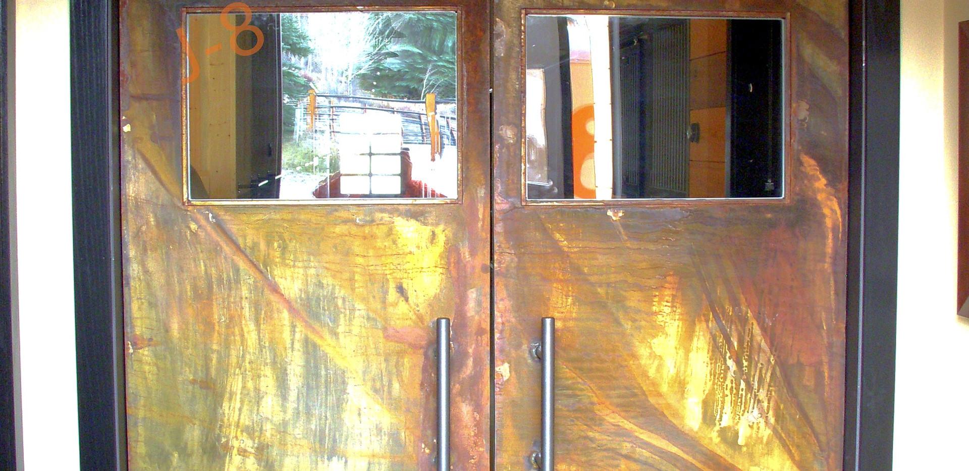 Dual Pivoting Doors