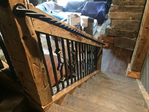 Twisted Grab Rail and Steel Railing within Wood