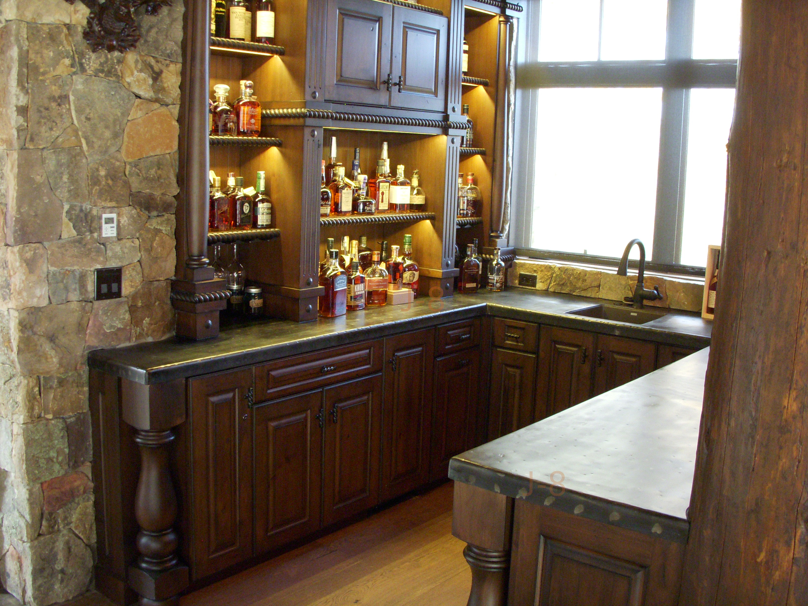 Hammered Wet Bar