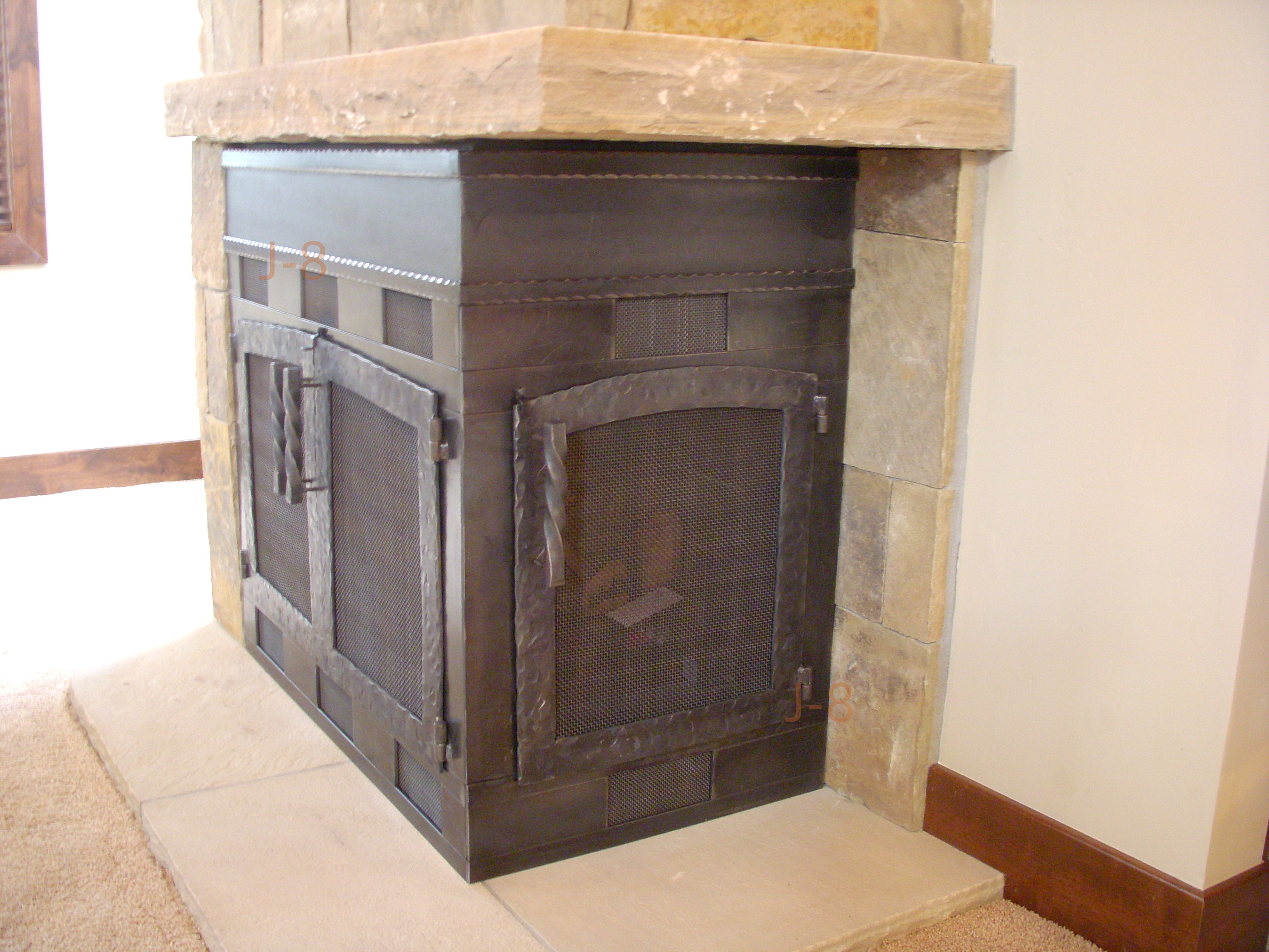 Corner Fireplace Unit