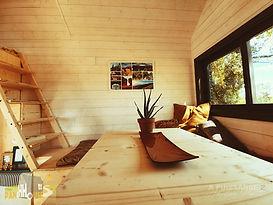 table séjour Tiny House d'Aurelie