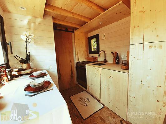 vue d'ensemble cuisine Tiny House d'Aurelie