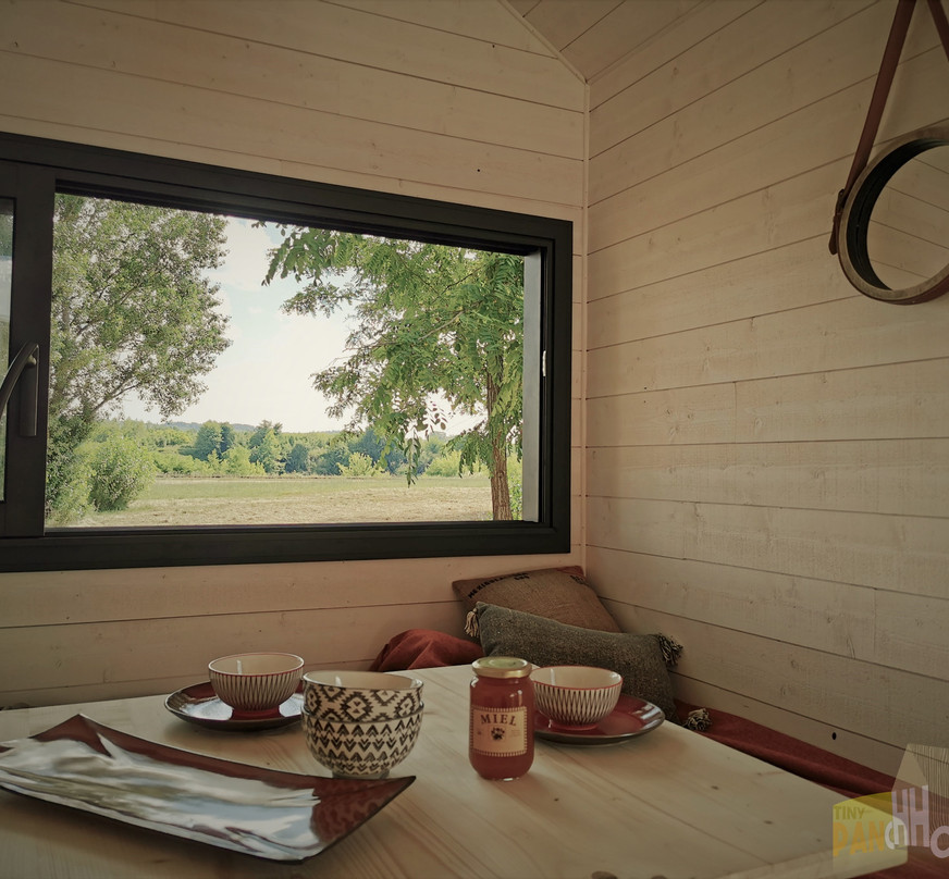 baie vitrée séjour tiny house d'aurelie
