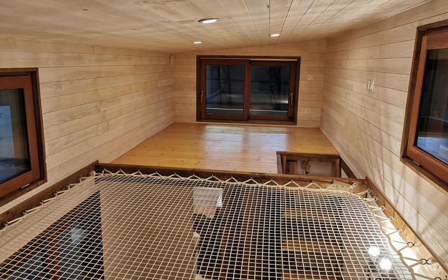mezzanine couchage tiny house canopée