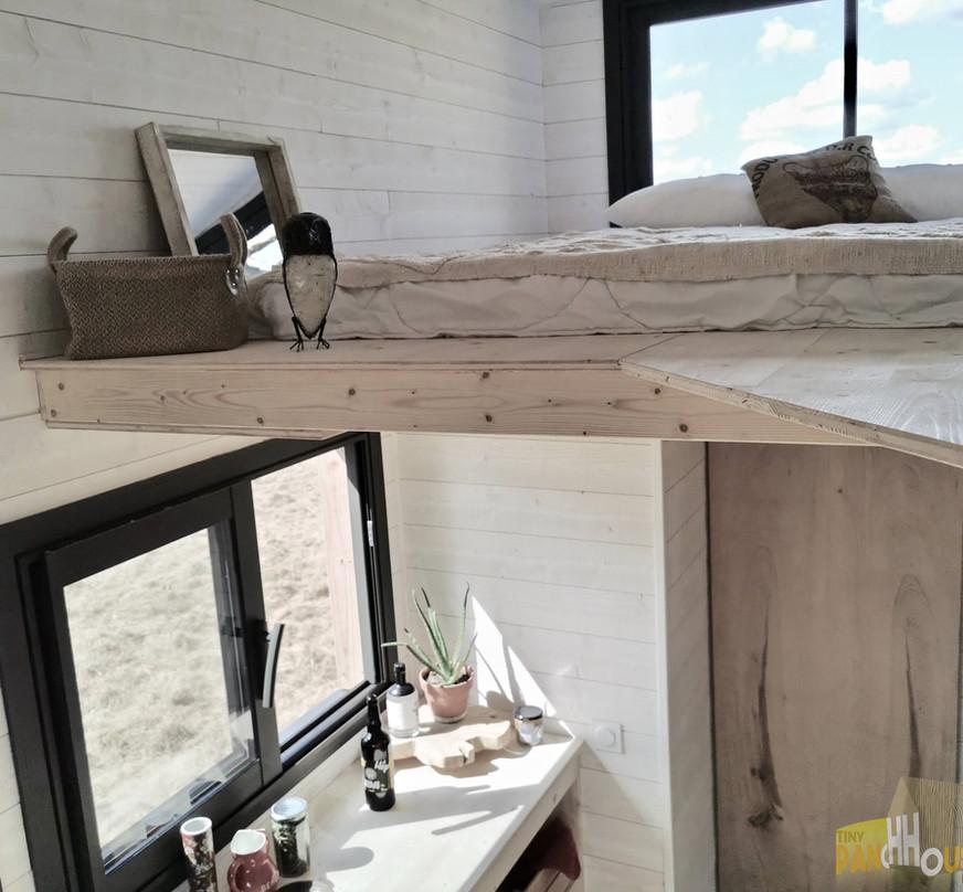 mezzanine + cuisine tiny house d'aurelie