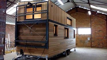 tiny house canopée terrasse amovible repliée