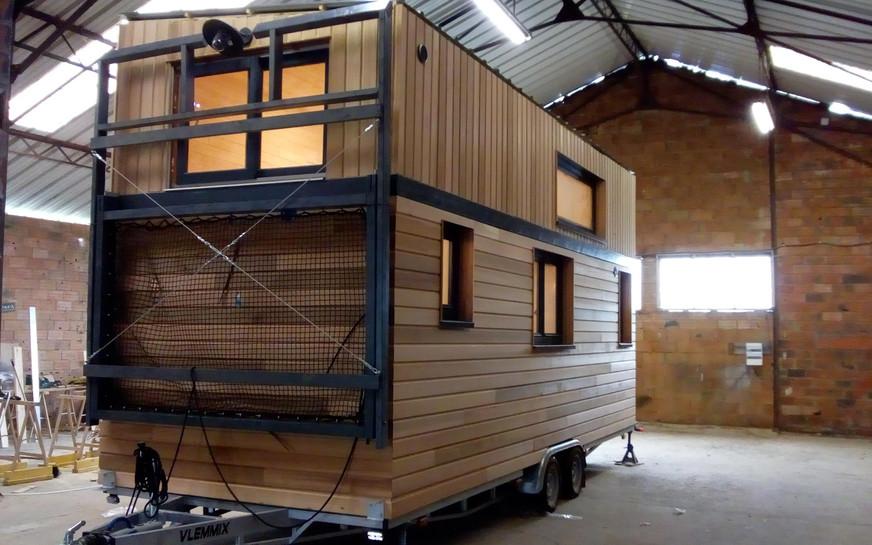 filet replié tiny house canopée