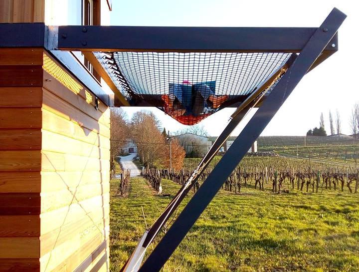 filet déployé tiny house canopée