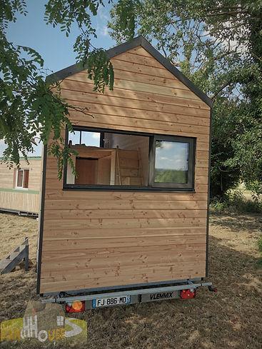pignon séjour Tiny House d'Aurelie